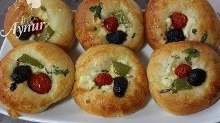 Türkische Acma mit Schafskäse und Gemüse-Orijinal peynirli Pastane açması tarifi#Hamur İşleri