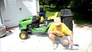 How To Replace The Blades on A John Deere LA Lawn Mower Tractor