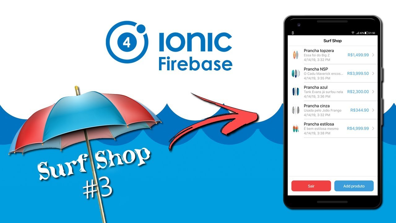 Ionic 4 | Surf Shop #3 - CRUD com Firebase Cloud Firestore