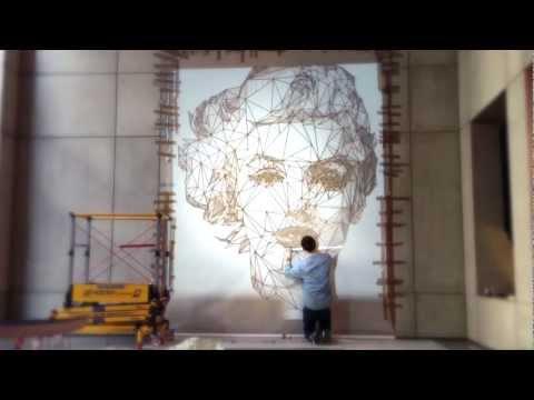 Marilyn josh - by Josh Bryan painting soho art London, Bandstand, Leigh Haynes film. Marilyn Monroe