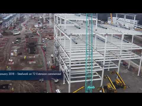 Manchester Airport Transformation Programme - 1 year timelapse