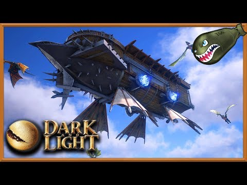 Dark an Light | First Version of Epic Airships Time Lapse Construction (Dark & Light News & Updates)