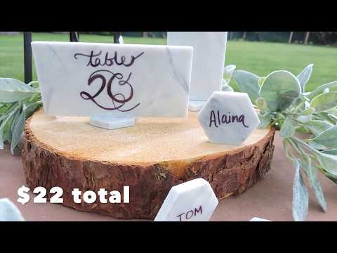 DIY Marble Table Numbers, Wedding Sign, Name Cards