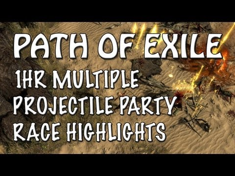 Path of Exile: 1HR Multiple Projectile Party Race with AtlasGaming (Highlights Reel)
