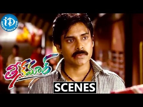 Teen Maar Movie Scenes || Pawan Kalyan Fights for Kriti Kharbanda at Railway Station