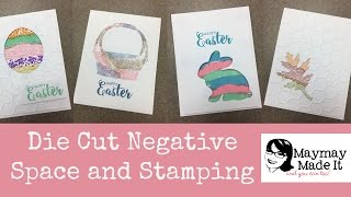 Die Cut Negative Space and Stamping with Oxide Inks
