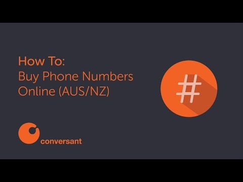 How To Buy Phone Numbers Online [NZ/AU]
