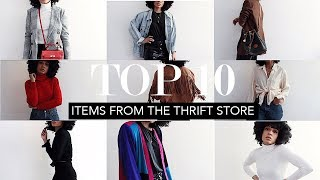 TOP 10 ITEMS FROM THE THRIFT STORE || Thrift Haul & Tips 2018