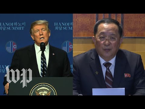 Watch: Trump and North Korean official contradict each other after summit collapse