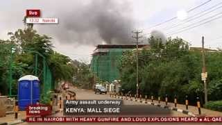 Kenya hostage crisis: Army assault on Nairobi shopping mall (recorded live feed)