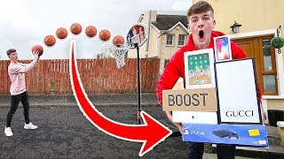 "1 BASKETBALL SHOT = ""BUY ANYTHING YOU WANT"" (Challenge)"