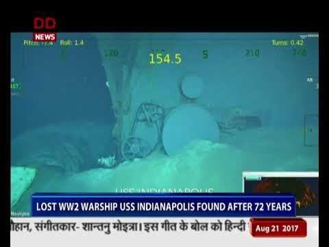 Lost World War-2 warship USS Indianapolis found after 72 years