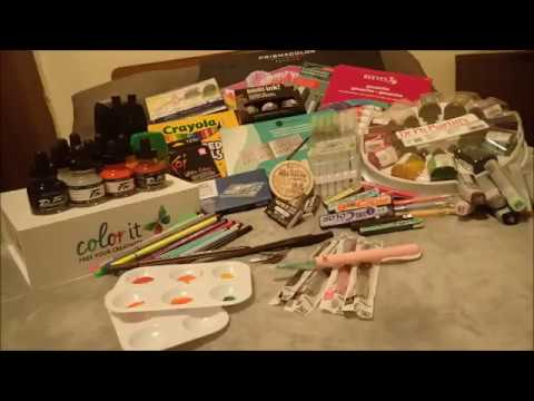 Huge Art Supply Haul 2017 | Study abroad edition | GeezLouiseArtist