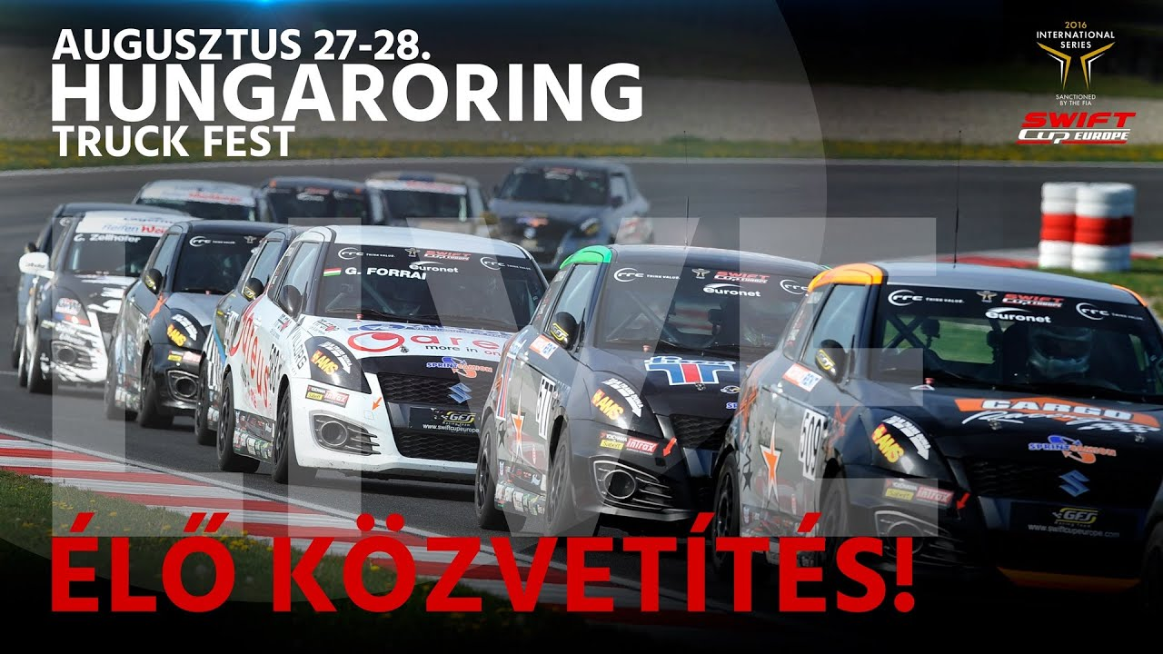 Fia Suzuki Swift Cup Europe Hungaroring Race 2 Live Youtube