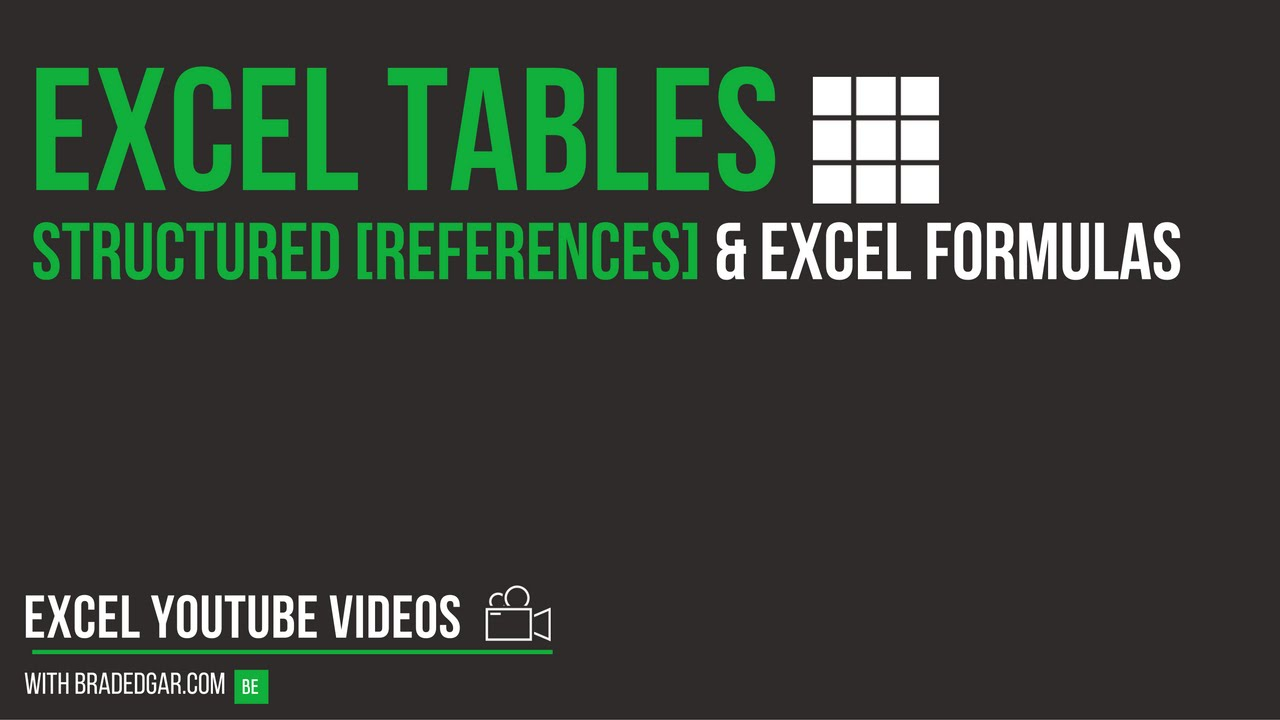 Excel Tables: How to Use Structured References with the SUMIF Formula in an  Excel Dashboard