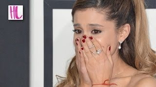 Repeat youtube video Ariana Grande Cries At Grammys Over Her Hair Falling Out