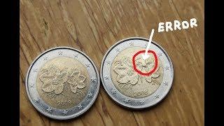 2 Euro 2008 ERROR and 2009 Finland