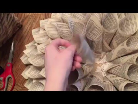 DIY Paper Wreath - How to Make a Paper Wreath - Decor on a Budget