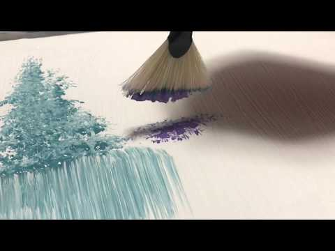 Easy Abstract Landscape Painting Demo / For Beginners / Using Fan brush
