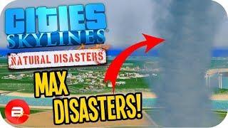 Cities Skylines ▶MAX RANDOM DISASTERS!!!◀ #1 Cities: Skylines Green Cities Natural Disasters