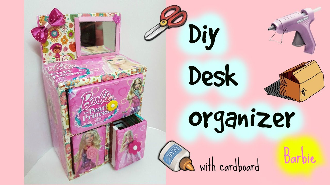Diy Desk Organizer Cardboard Youtube