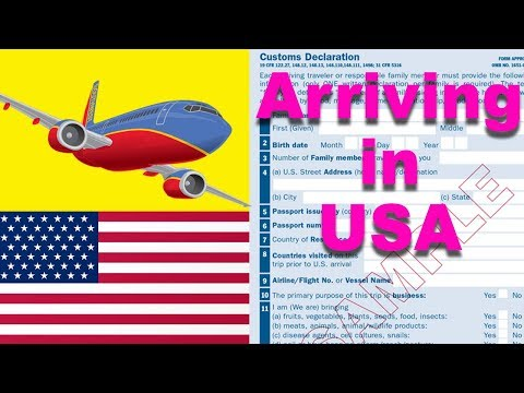 Arriving In USA 🇺🇸🇺🇸🇺🇸 | Customs Form  | How To Complete