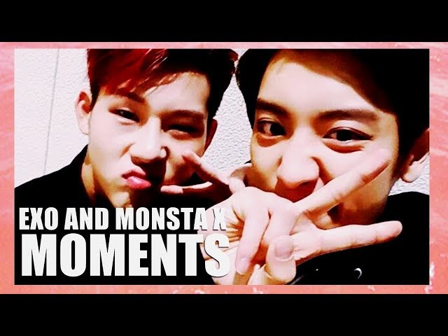 EXO AND MONSTA X MOMENTS