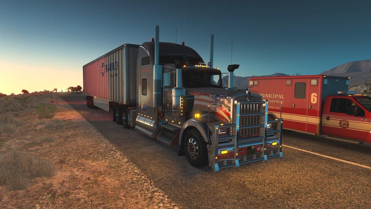 American truck simulator Route advisor on iPad