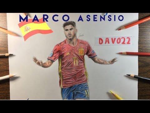 Dibujo De Marco Asensio Del Real Madrid Y De La Selección Española
