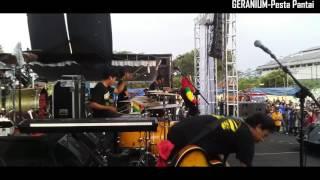 Pesta pantai - tony Q rastafara - afandi GERANIUM Drum camp
