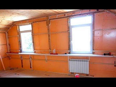 Как лучше утеплить стены внутри дома