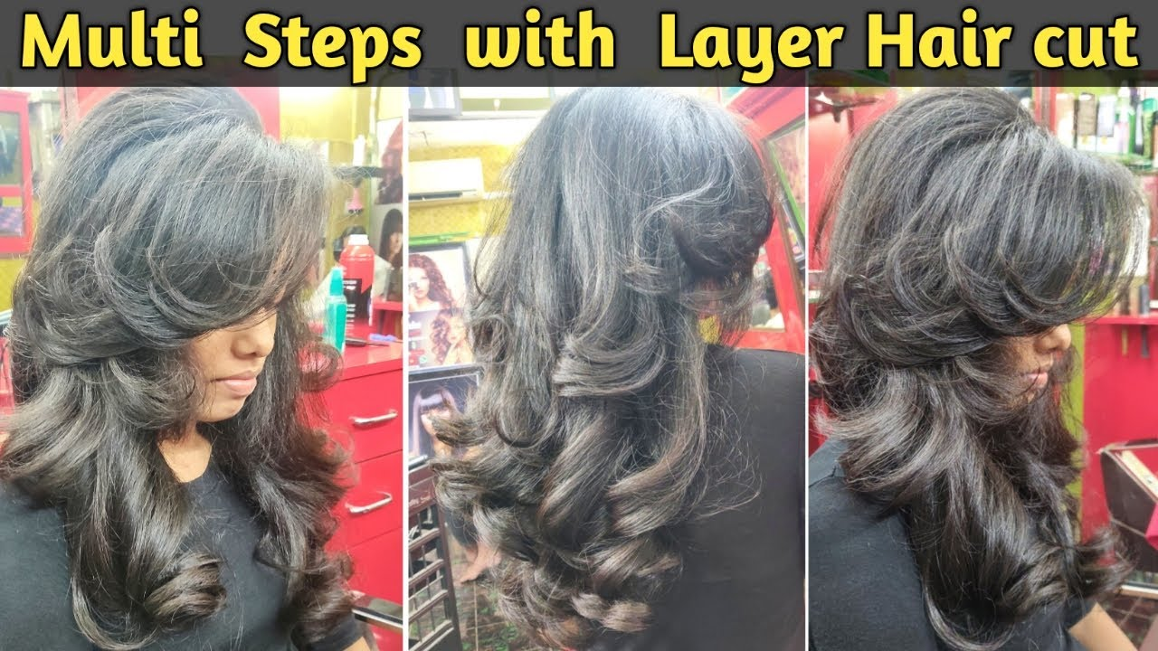 How to Multi Step with Layer Hair cut in Hindi / Advanced Step