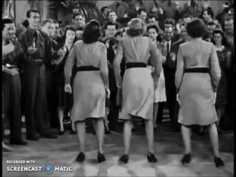 Andrew sisters dance from the movie Buck Privates
