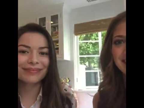 Miranda Cosgrove & Mia Serafino - Facebook Live Chat