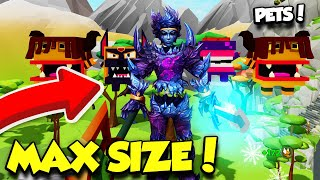 BECOMING MAX SIZE IN GIANT SIMULATOR AND GETTING INSANE PETS! (Roblox)