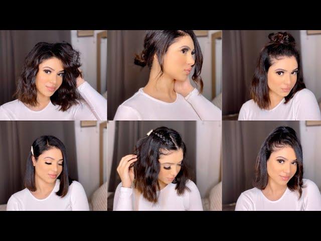 Coiffure Facile Pour Cheveux Court Youtube