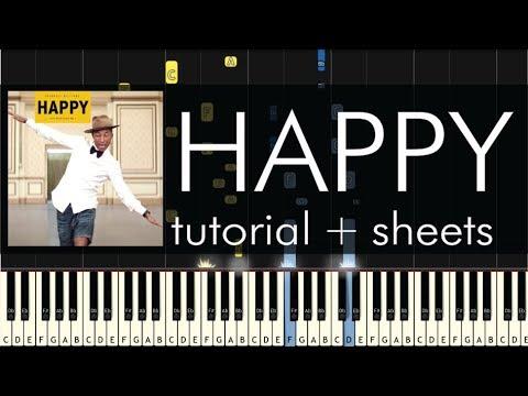 Pharrell Williams - Happy - Piano Tutorial - How to Play + Sheet Music