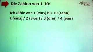 1.05 Deutsch lernen A1 - die Zahlen 1 bis 10