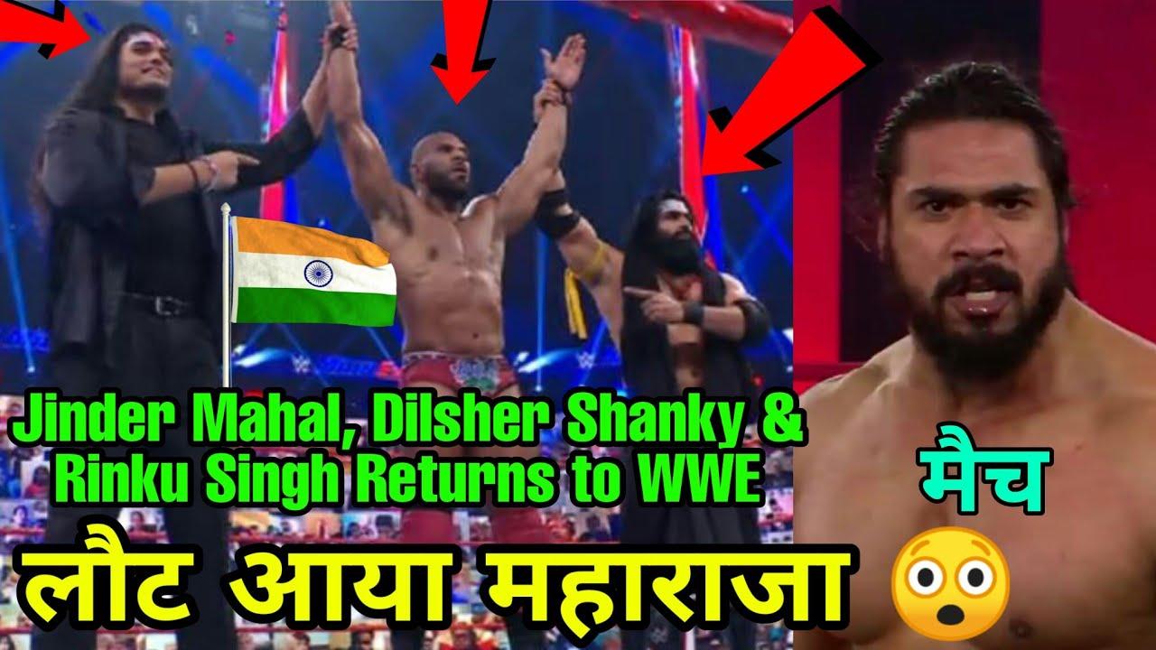 Jinder Mahal, Dilsher Shanky & Indus Sher Shocking WWE Return ! Mahabali Shera new match 2021 !