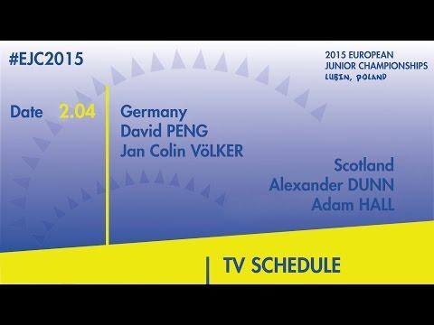 D.Peng/J.C.Volker (GER) VS. A.Dunn/A.Hall (SCO) #EJC2015 Lubin, Poland