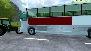 FS 2013 mod: Silver Eagle bus (traffic mod)