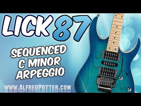 Lick #87 - Sequenced C Minor Arpeggio