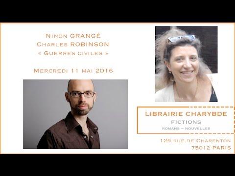 Ninon Grangé et Charles Robinson (Librairie Charybde, 11 mai 2016)