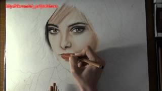 Рисование портрета Элис Каллен (Сумерки)