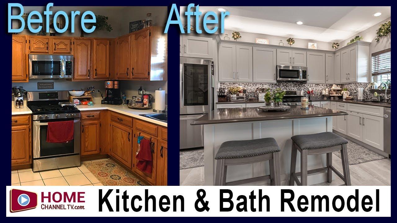 Kitchen & Bathroom Remodel - Before & After - White Kitchen Design Makeover