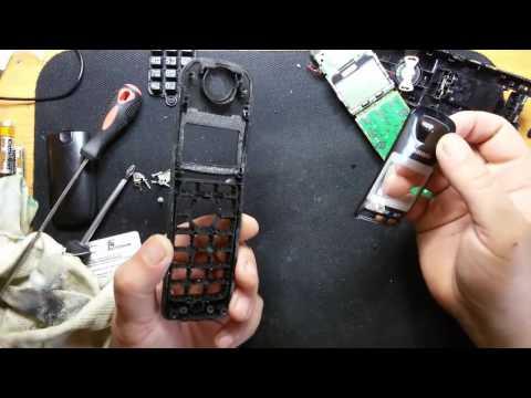 Чистка кнопок радио телефона  Panasonic KX-TG2511