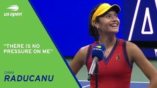 Emma Raducanu On-Court Interview | 2021 US Open Semifinal