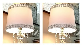 DIY Lampshade Idea | Glam Lampshade Idea