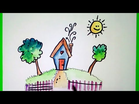 simple water colour painting easy water colour painting water colour painting for kids very easy - Colour Painting For Kids