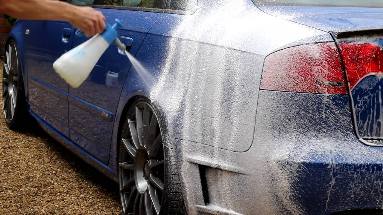 Spray Car Wash >> Carbon Collective Satsuma Snow Foam | Gloria Foam Sprayer - YouTube